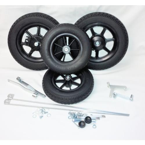 Umbausatz kompl. PU-Reifen und Trommelbremse / ohne Gabeln